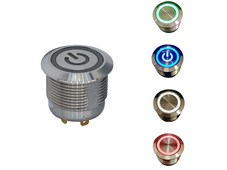 C&K's illuminated ATPS19 Series momentary pushbutton switch offers an extended durability in a shorter housing.