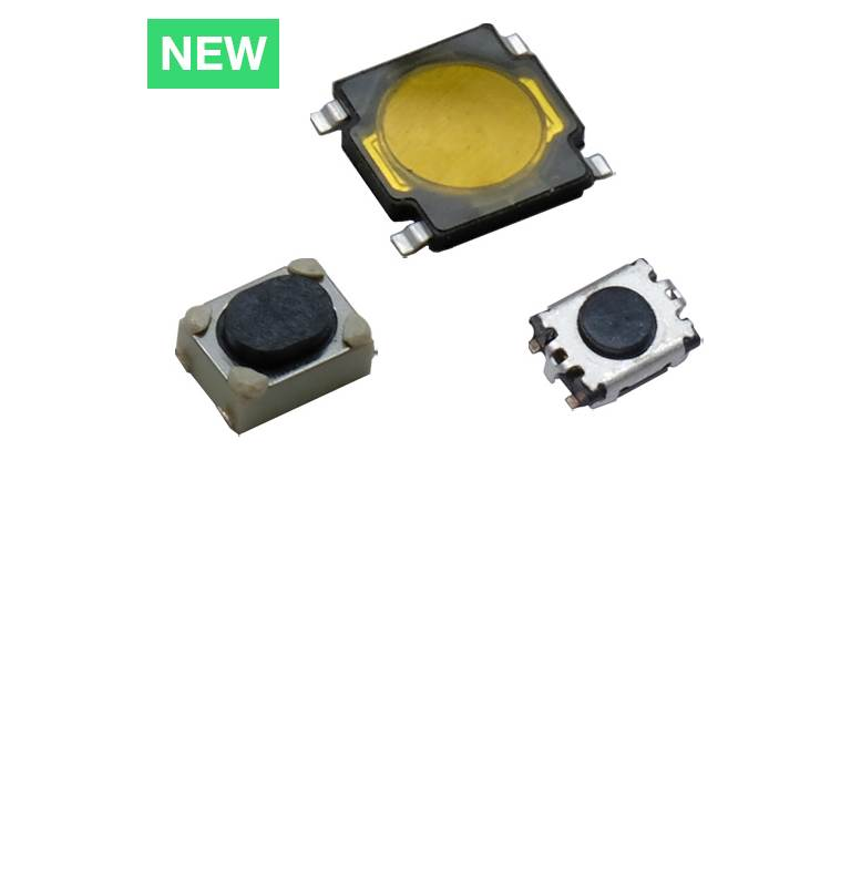 RK Series - Newly Redesigned Low Profile Microminiature Tactile Switch